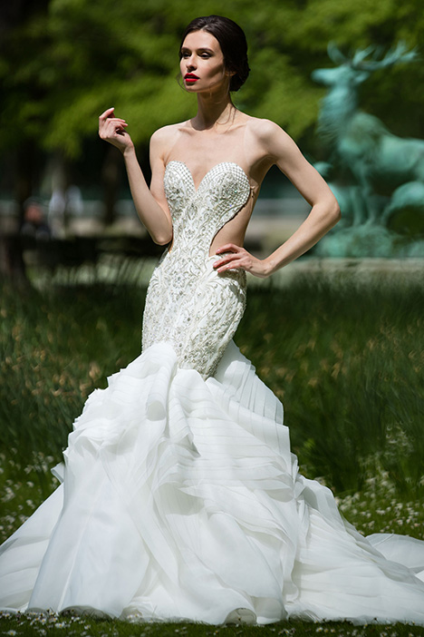90369 gown from the 2019 Simone Carvalli collection, as seen on Bride.Canada