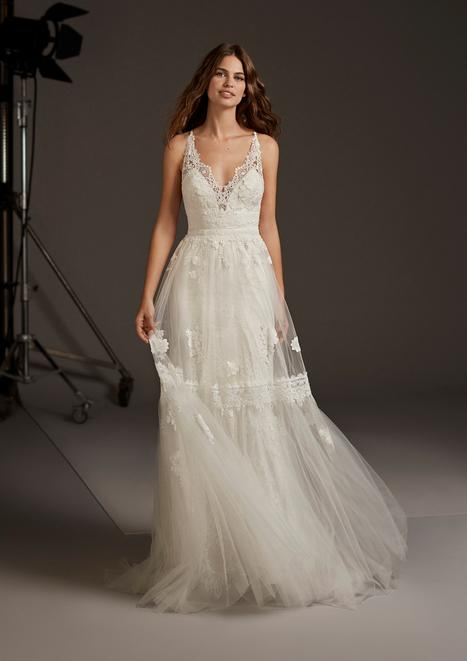 Cressida gown from the 2020 Pronovias collection, as seen on Bride.Canada