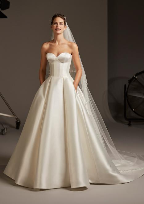 Pegasus gown from the 2020 Pronovias collection, as seen on Bride.Canada