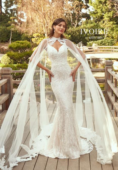 Annamarie gown from the 2019 Ivoire by Kitty Chen collection, as seen on Bride.Canada
