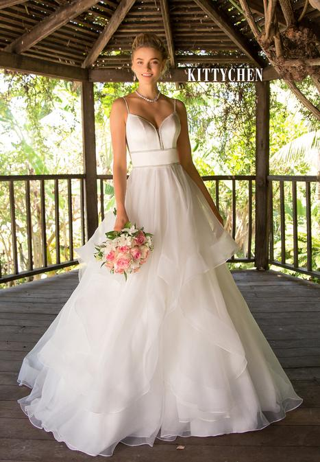 Chalita gown from the 2019 KittyChen collection, as seen on Bride.Canada