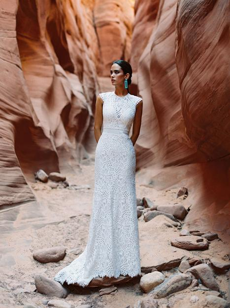 Cardin gown from the 2020 Wilderly Bride collection, as seen on Bride.Canada