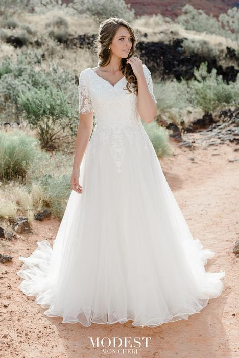 gown from the 2020 Modest by Mon Cheri collection, as seen on Bride.Canada
