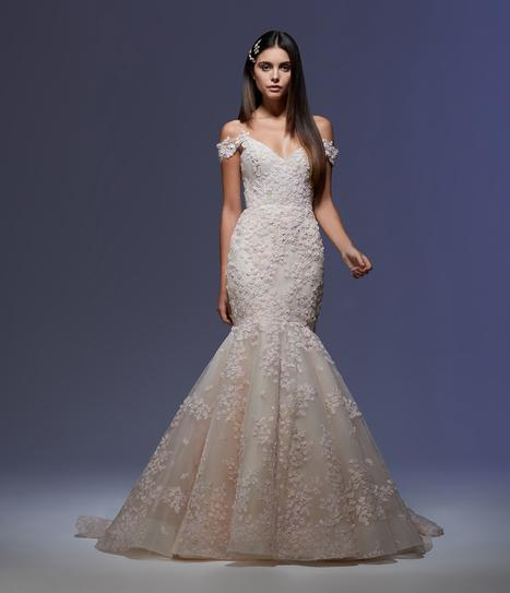 Ines gown from the 2020 Lazaro collection, as seen on Bride.Canada