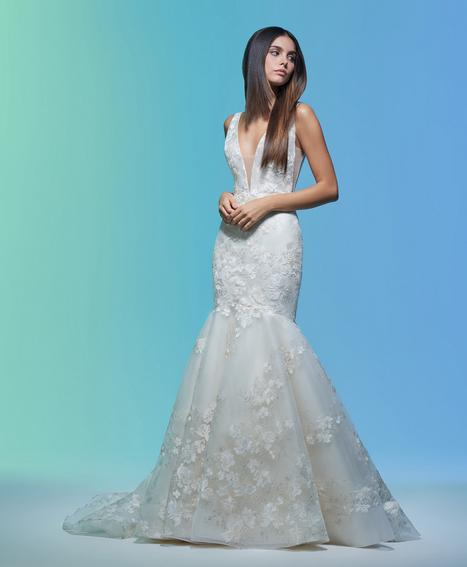 Eavan gown from the 2020 Lazaro collection, as seen on Bride.Canada