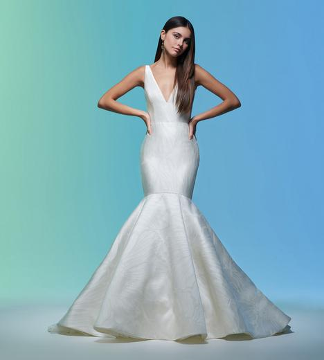 Audrey gown from the 2020 Lazaro collection, as seen on Bride.Canada