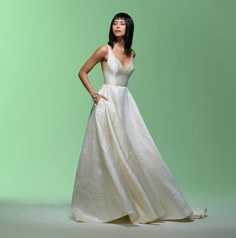 Aster gown from the 2020 Lazaro collection, as seen on Bride.Canada
