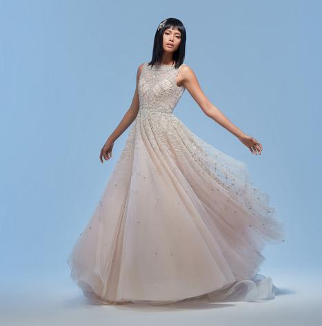 Amira gown from the 2020 Lazaro collection, as seen on Bride.Canada
