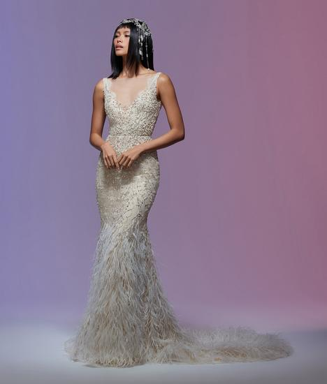 Cher gown from the 2020 Lazaro collection, as seen on Bride.Canada