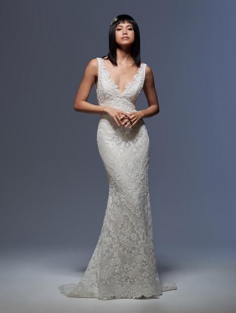 Emmeline gown from the 2020 Lazaro collection, as seen on Bride.Canada