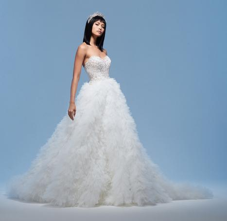 Adriana gown from the 2020 Lazaro collection, as seen on Bride.Canada