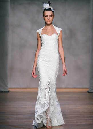 Amaranth gown from the 2011 Monique Lhuillier collection, as seen on Bride.Canada