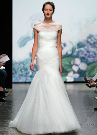 Emotion gown from the 2012 Monique Lhuillier collection, as seen on Bride.Canada
