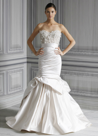 Eternity gown from the 2012 Monique Lhuillier collection, as seen on Bride.Canada