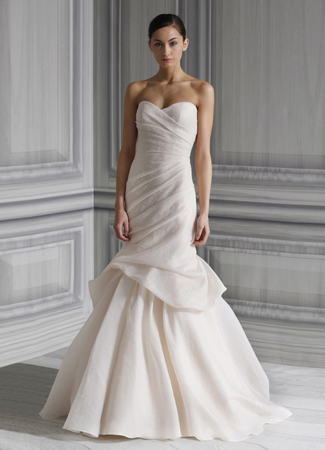Peony gown from the 2012 Monique Lhuillier collection, as seen on Bride.Canada