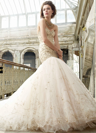 gown from the 2012 Lazaro collection, as seen on Bride.Canada