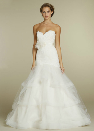 gown from the 2012 Tara Keely by Lazaro collection, as seen on Bride.Canada