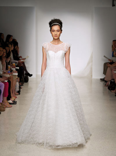 Meadow gown from the 2012 Christos collection, as seen on Bride.Canada
