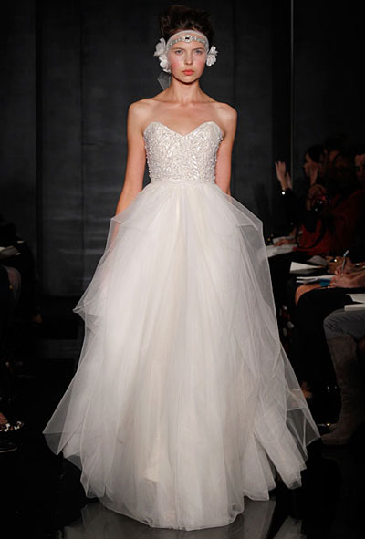 Eternity gown from the 2012 Reem Acra collection, as seen on Bride.Canada