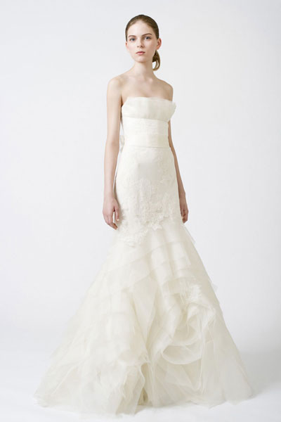 Fawn gown from the 2011 Vera Wang collection, as seen on Bride.Canada