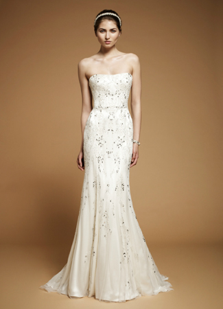 Arabesque gown from the 2012 Jenny Packham collection, as seen on Bride.Canada