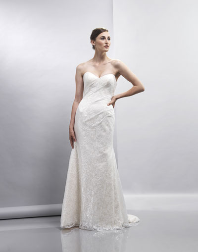 Elisha gown from the 2013 Lis Simon collection, as seen on Bride.Canada