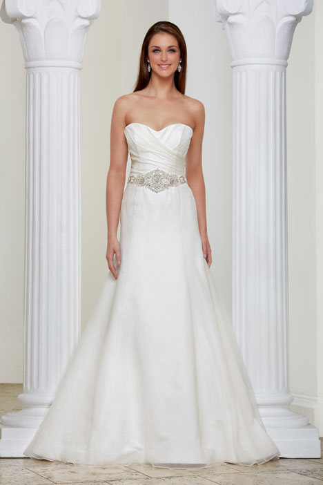 Walk in the Park gown from the 2014 Caroline Castigliano collection, as seen on Bride.Canada
