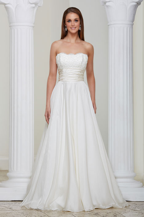 Wild Orchid gown from the 2013 Caroline Castigliano collection, as seen on Bride.Canada