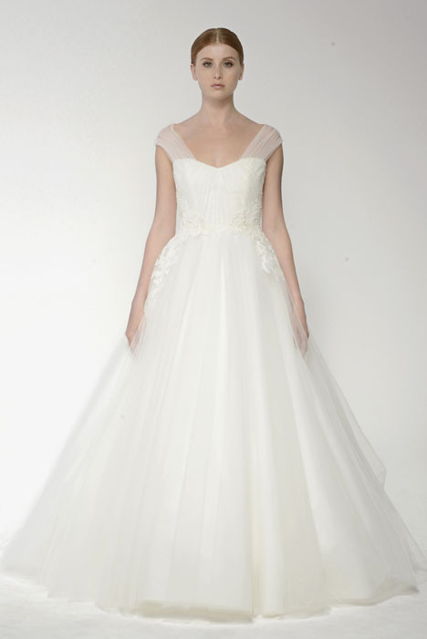 1409 gown from the 2014 Monique Lhuillier: Bliss collection, as seen on Bride.Canada