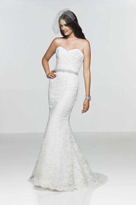 A La Mode gown from the 2013 Caroline Castigliano collection, as seen on Bride.Canada