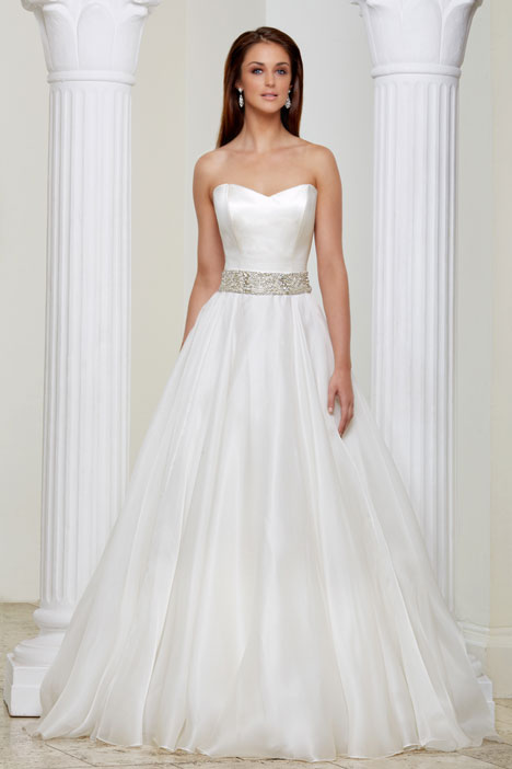 Belle gown from the 2013 Caroline Castigliano collection, as seen on Bride.Canada