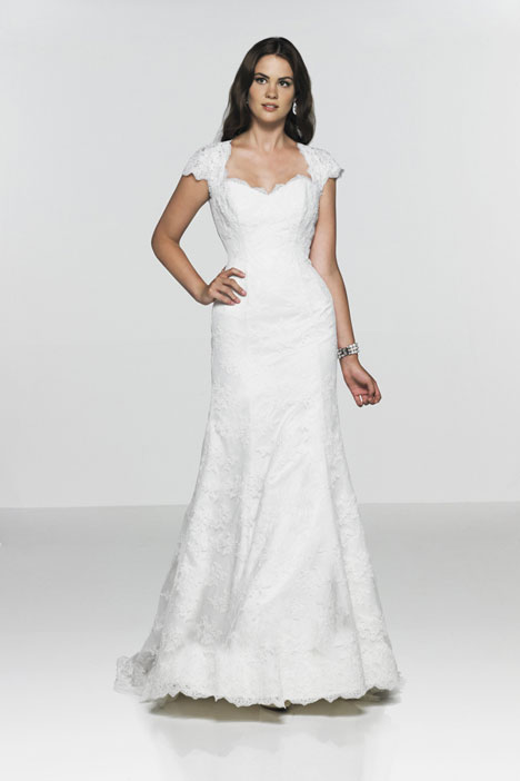 Heart of Gold gown from the 2012 Caroline Castigliano collection, as seen on Bride.Canada