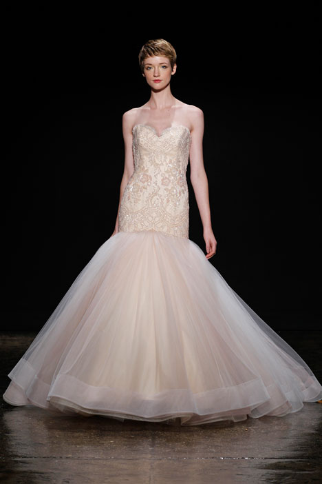 gown from the 2014 Lazaro collection, as seen on Bride.Canada
