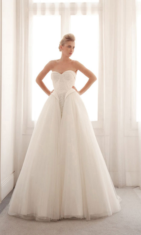 3723 gown from the 2014 Gemy Maalouf collection, as seen on Bride.Canada