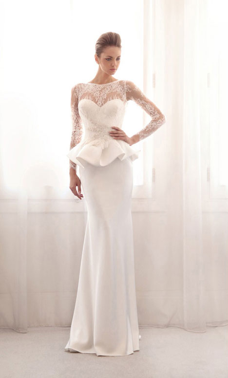 3733 gown from the 2014 Gemy Maalouf collection, as seen on Bride.Canada