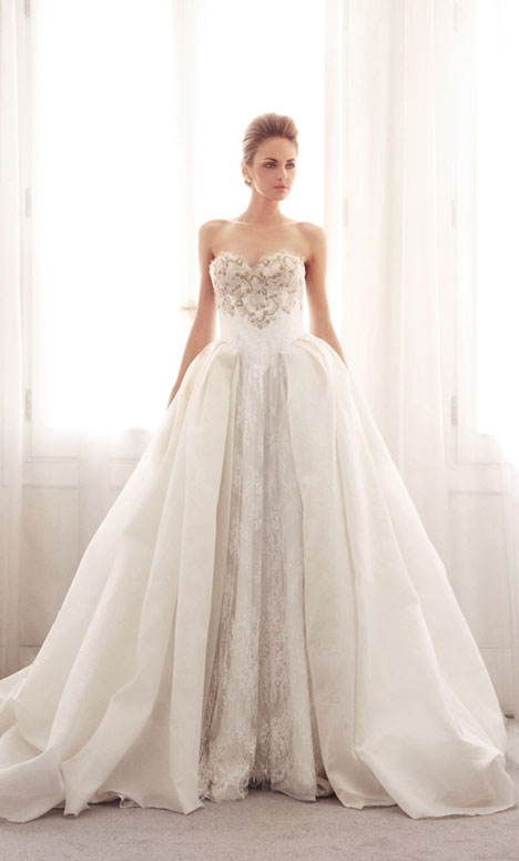 3734 gown from the 2014 Gemy Maalouf collection, as seen on Bride.Canada