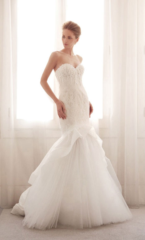3745 gown from the 2014 Gemy Maalouf collection, as seen on Bride.Canada