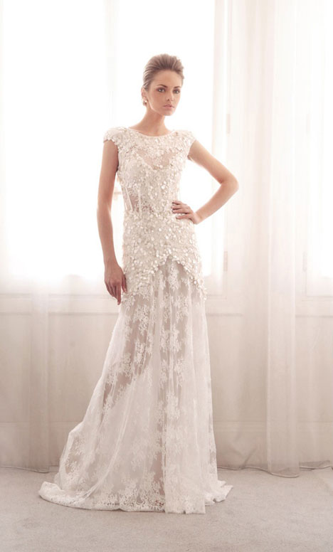3751 gown from the 2014 Gemy Maalouf collection, as seen on Bride.Canada