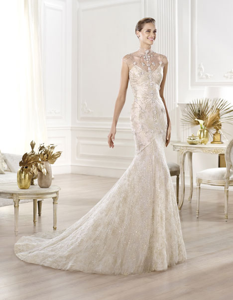 Yalim gown from the 2014 Pronovias collection, as seen on Bride.Canada