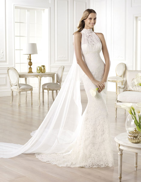 Yari gown from the 2014 Pronovias collection, as seen on Bride.Canada