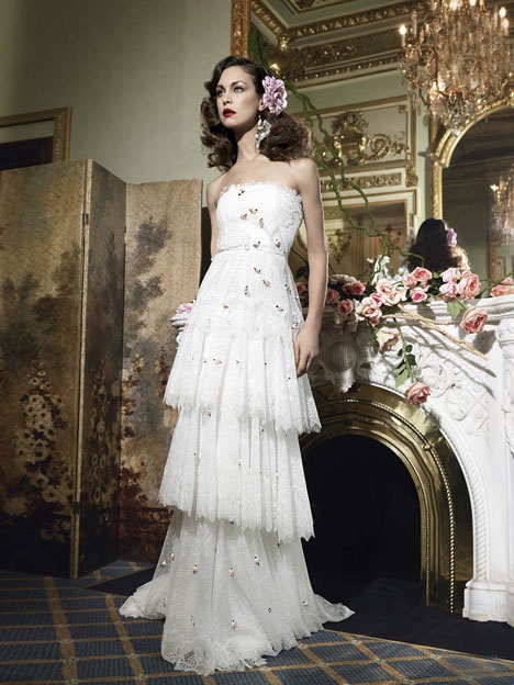 El Cairo gown from the 2014 YolanCris collection, as seen on Bride.Canada