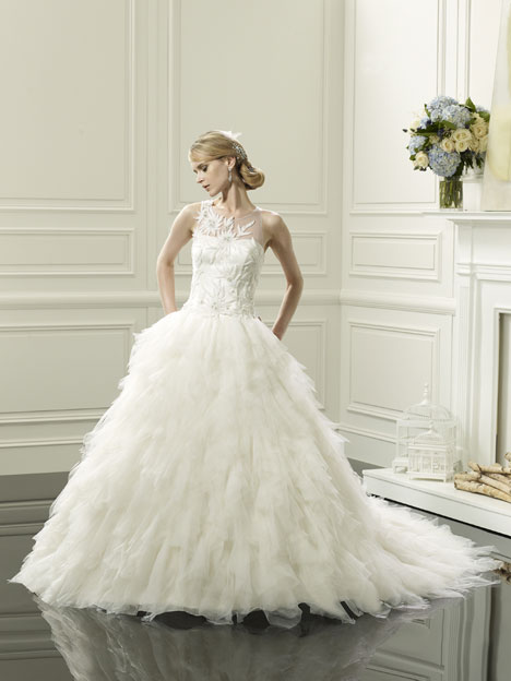 Aria gown from the 2014 Val Stefani collection, as seen on Bride.Canada