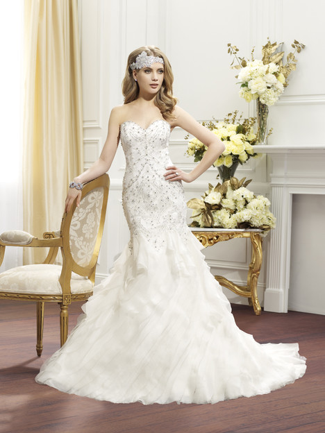 Harlow gown from the 2014 Val Stefani collection, as seen on Bride.Canada