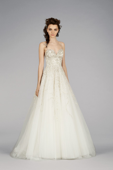 3452 gown from the 2014 Lazaro collection, as seen on Bride.Canada
