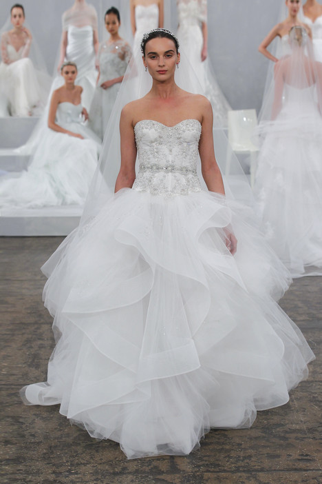 Axelle gown from the 2014 Monique Lhuillier collection, as seen on Bride.Canada