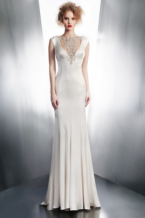 4127 gown from the 2015 Gemy Maalouf collection, as seen on Bride.Canada