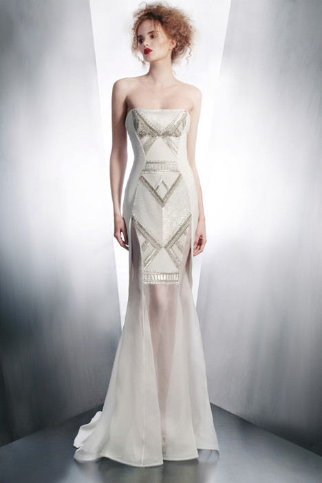 4159 gown from the 2015 Gemy Maalouf collection, as seen on Bride.Canada