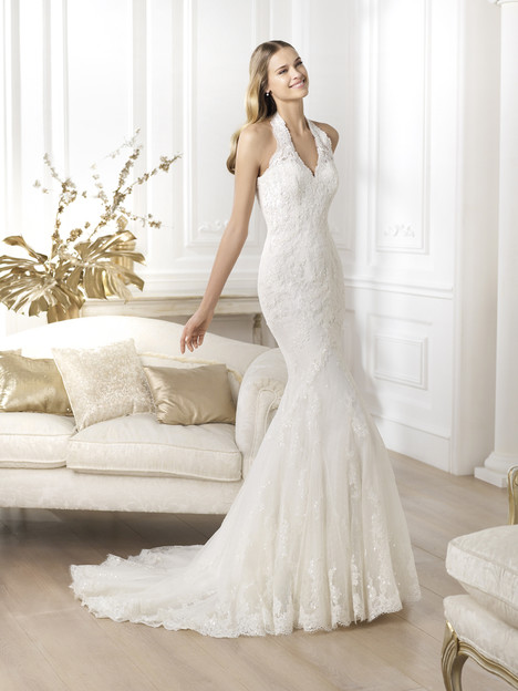 Lester gown from the 2014 Pronovias collection, as seen on Bride.Canada
