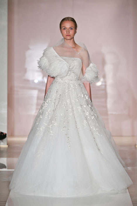 Melanie gown from the 2014 Reem Acra collection, as seen on Bride.Canada