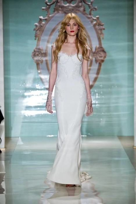 S15 Look 2 gown from the 2015 Reem Acra collection, as seen on Bride.Canada